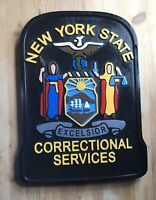 Police New York Correctional  3D  routed wood Patch plaque Sign Custom
