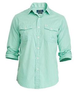 Polo Ralph Lauren MEN'S Beach Twill Long Sleeve Cotton Sport Shirt AS262