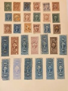 JJ: US Revenue Stamp Collection Lot Of Better 1st Issue Revenues, Mixed Cond. 3
