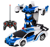 Electric RC Car Transformation Robots Children Boys Toys Remote C 2 in 1