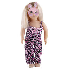 Fashion Leopard Clothes Top+Pants Fits For 18inch Doll Clothes Kids Toy