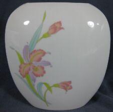 """Otagiri Orchid Mist Pillow Vase 7"""" Japan Pastel Floral Design"""