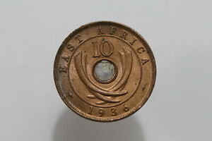 EAST AFRICA 10 CENTS 1936 H HIGH GRADE B25 #Z9033