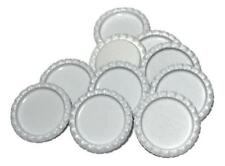 10 pcs. White flattened bottle caps DIY hair bows & headbands