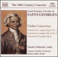 Takako Nishizaki, Chevalier De Saint-Georges - Violin Concertos [New CD]