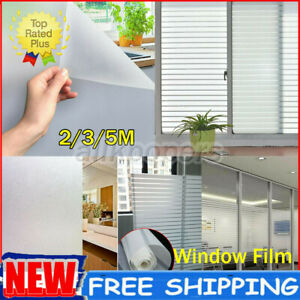 Room Bathroom Home Window Film Door Privacy Bath Sticker PVC Frosted 45/60cm