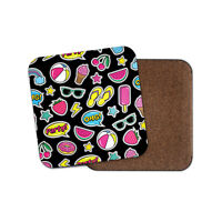 Funky Summer Coaster - Holiday Watermelon Strawberry Ice Lolly Food Gift #14764