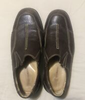 Johnston & Murphy Mens Leather Casual Slip On Loafers Shoes Size 10.5 M Brown