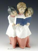 Lladro Figurine BOYS CHOIR TRIO SINGING ACOLYTE #6556 Retired Mint