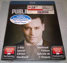 Public Enemies (2009, Canada, Region Free) Futureshop Exclusive Steelbook NEW