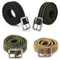 550 Paracord Belt Tactical Survival Camping Emergency Equipment Hunting Buckle