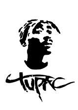 High Detail Tupac Airbrush Stencil - Free UK Postage