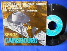 SERGE GAINSBOURG EP VILAINE FILLE 432862 LANGUETTE ORIG FRANCE EXC+