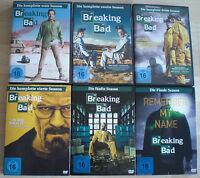 Breaking Bad Staffel 1+2+3+4+5.1+5.2 Komplette Serie Top Zustand 6 DVD Boxen