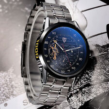 Luxury Men Stainless Steel TEVISE Mechanical Auto Military Wrist Watch+Gift Box