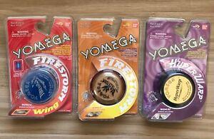 Yomega 3 Classic models Circa 1999 yoyo yo-yo yo yo Firestorm wing hyperwarp