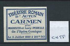 Cartel de leucocitos. - Cenicienta/- CX98-Europa-Teatro Romain-Carmen - 1930