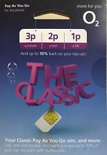 new o2 classic pay as you go sim card - 2018 official pack