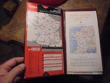Ancienne Carte Routière en Pochette Curseur de Distance Kilométrique Road Map