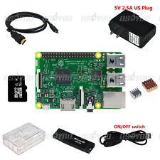 8 in 1 Raspberry Pi 3 Model B Starter Kit w/ Case+2.5A Power Adapter + Heatsinks
