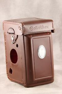 Origianl Case for Rolleiflex 3.5 with Glass Back Pocket. AS-IS