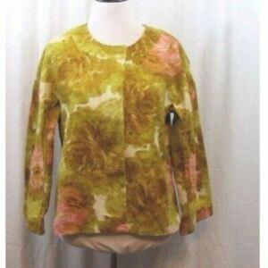 Talbots Green Pink Snap Closure Woven Jacket 6