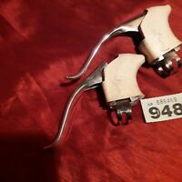 vintage Weinmann alloy brake levers with Carlton hoods polished