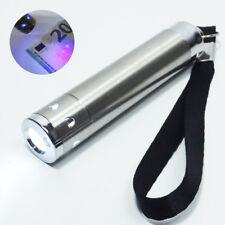 Mini Torcia con luce UV verifica banconote Gadget portachiave