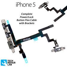 COMPLETO di alimentazione/pulsante di blocco VOLUME MUTE/Silenzioso Interruttore con staffe per iPhone 5