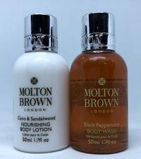 Molton Brown Coco & Sandalwood Body Lotion & Black Peppercorn Body Wash 50ml