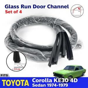 Fits Toyota Corolla KE30 4D Sedan 1974-79 Window Glass Run Door Channel Felt x4