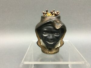 "Vintage 3"" AC Williams Two Faced Boy Black Americana Cast Iron Match Holder"
