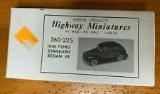 JORDAN HIGHWAY MINIATURES HO SCALE 1/87 1940 FORD STANDARD SEDAN V-8  KIT
