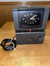 Vintage Lathem Time Clock Works May Need Ink No Key Model 2106 Unlocked