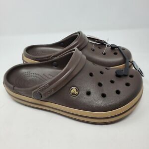 Crocs Crocband Mens 6 / Womens 8 Espresso Brown Slip On Clogs
