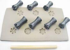 Pottery texturing ceramic clay tools: Rélyéf Snowflakes set 15 mm