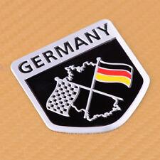 Car 3D Aluminum Germany Flag 5*5cm Emblem Decal Sticker For Porsche BMW VW Benz