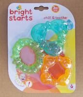 Bright Starts Chill & Teethe Teether Set Water Filled Baby Rings BPA Free 3m +
