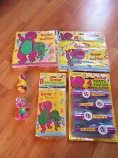 Barney Dinosaur Birthday Party Supplies 6pc Lot 1992 Unique Multi-color NOS