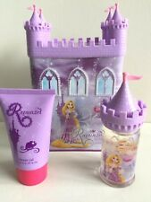 DISNEY PRINCESS RAPUNZEL PERFUME & SHOWER GEL CASTLE MONEY BOX GIFT SET