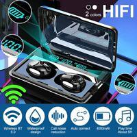 TWS Bluetooth 5.0 Headphone Sport Earbuds Wireless HiFi Stereo Bass Earphone Mic