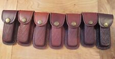 """Lot of 7 folding knife sheaths fits most knifes up to 4"""" - cosmetic seconds"""