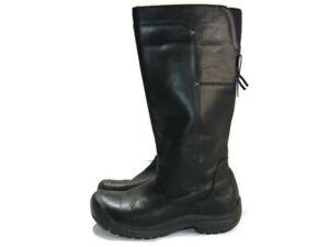 Keen Boots Black Leather Shelby Waterproof Zip Up Knee High Women Size 10 53019