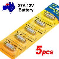5x OZ 27A 12V MN27 LR27A A27 L828 V27GA Alkaline Battery Garage Car Remote Alarm