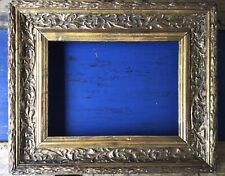 VICTORIAN gilt GESSO Acanthus Leaf picture Frame original Glass 28x23 Cms