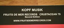 VERY RARE Fruits De Mer Kopf Musik Second Edition 3CD Set Kosmische Krautrock