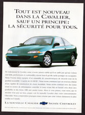 1995 CHEVROLET Cavalier 2-door Coupe Vintage Original Print AD Blue car photo CA