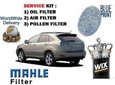 FOR LEXUS RX300 3.0 2003-2006 NEW FILTER KIT OIL AIR POLLEN FILTER ( 3 FILTERS)