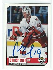 Nelson Emerson Signed 1998/99 UD Choice Preview Card #43