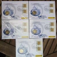 5x  2 Euro Numisbrief ADFGJ Bundesländer DEUTSCHLAND 2013 BADEN-WÜRTTEMBERG WMF